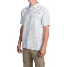 The North Face Bellingham Plaid Shirt - Short Sleeve (For Men) in Tofino Blue - Closeouts