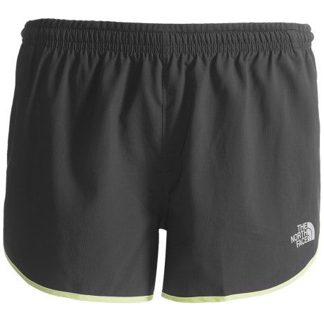 The North Face Better Than Naked Split Shorts - UPF 15, Inner Brief (For Women) in Asphalt Grey/Meridian Blue
