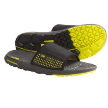 The North Face Bolinas Slide Sandals (For Men) in Tnf Black/Citronelle Green - Closeouts