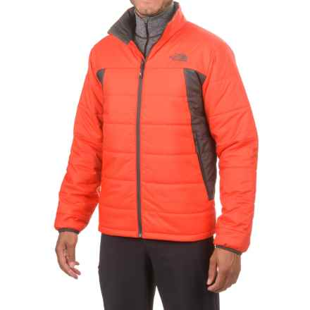 The North Face Bombay Jacket - Insulated (For Men) in Fiery Red/Asphalt Grey - Closeouts
