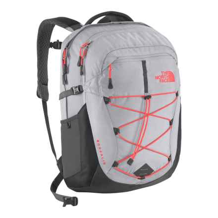 The North Face Borealis Backpack (For Women) in Dapple Gray Heather/ Tropical Coral - Closeouts