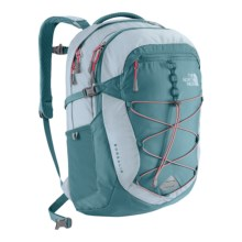 The North Face Borealis Backpack (For Women) in Hydro Green/Snowcone Red - Closeouts