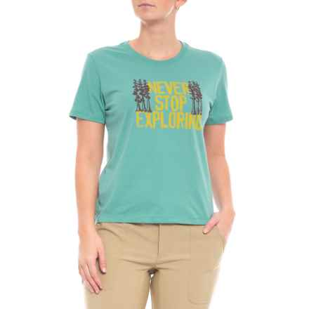 The North Face Bottle Source Novelty T-Shirt - Short Sleeve (For Women) in Bristol Blue - Closeouts