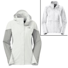 The North Face Boundary Triclimate® Jacket - Waterproof, 3-in-1 (For Women) in Tnf White/High Rise Grey/High Rise Grey - Closeouts