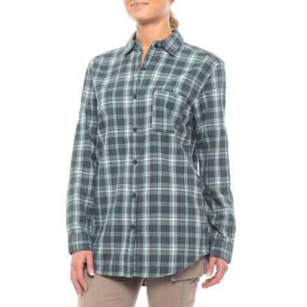 The North Face Boyfriend Shirt - Long Sleeve (For Women) in Ink Blue Plaid - Closeouts