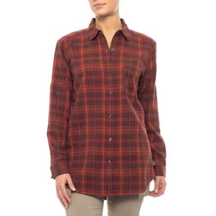 The North Face Boyfriend Shirt - Long Sleeve (For Women) in Ketchup Red Plaid - Closeouts