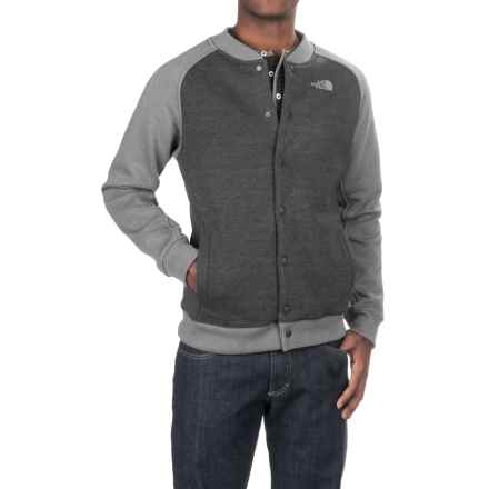 The North Face Bristol Bomber Jacket (For Men) in Tnf Dark Grey Heather (Std)-Tnf Medium Grey Heathe - Closeouts