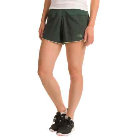 The North Face BTN Split Shorts - Built-In Brief (For Women) in Darkest Spruce/Subtle Green - Closeouts