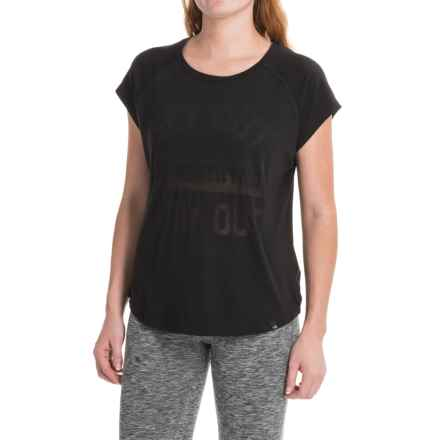 The North Face Burn It T-Shirt - Crew Neck, Short Sleeve (For Women) in Tnf Black - Closeouts