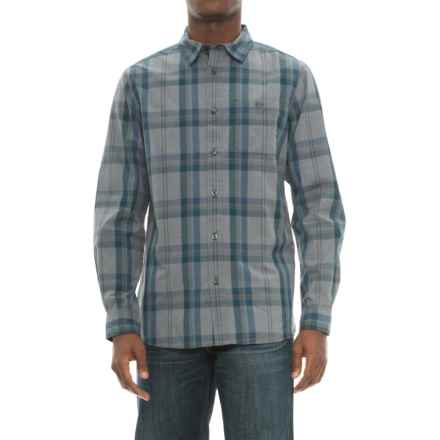 The North Face Buttonwood Shirt - Long Sleeve (For Men) in Asphlt Grey Plaid - Closeouts