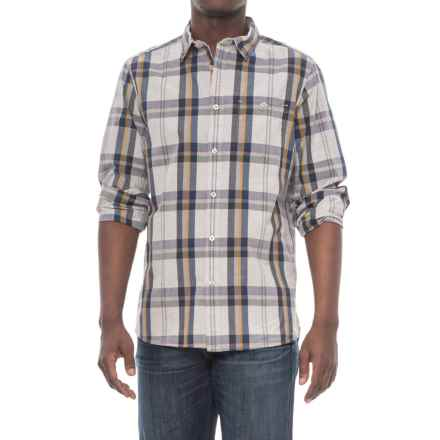 The North Face Buttonwood Shirt - Long Sleeve (For Men) in High Rise Grey Plaid - Closeouts