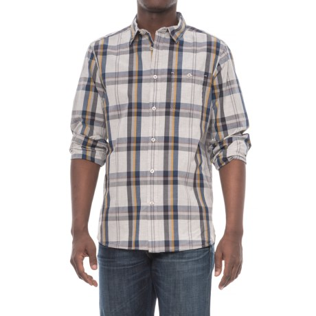 The North Face Buttonwood Shirt - Long Sleeve (For Men) in High Rise Grey Plaid