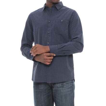 The North Face Buttonwood Shirt - Long Sleeve (For Men) in Urban Navy Plaid - Closeouts