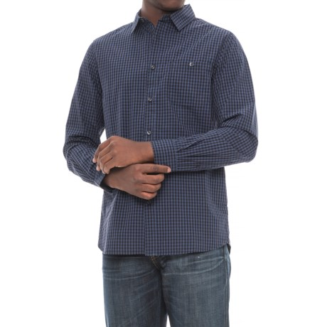 The north face buttonwood shirt for men the north face buttonwood shirt long sleeve for men in urban navy plaid sciox Images