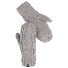 The North Face Cable-Knit Mittens (For Women) in Metallic Silver - Closeouts