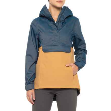 The North Face Cadet Rain Anorak Jacket - Waterproof, Zip Neck (For Women) in Biscotti/Ink Blue - Closeouts