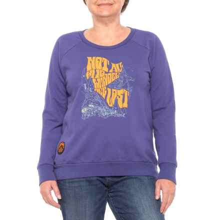 The North Face Cali Roots Crew Shirt - Long Sleeve (For Women) in Bright Navy - Closeouts