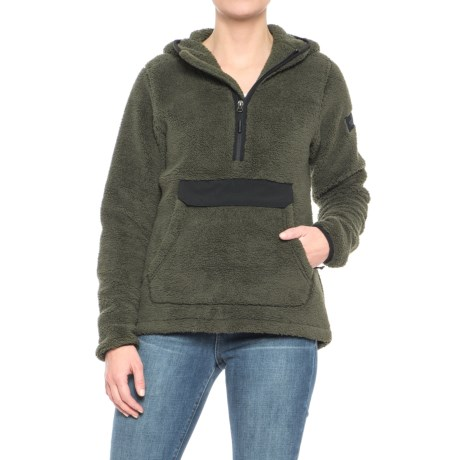 The North Face Campshire Hoodie - Zip Neck (For Women) in New Taupe Green