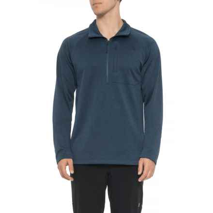 The North Face Canyonlands Fleece Jacket - Tall, Zip Neck (For Men) in Shady Blue Hthr - Closeouts