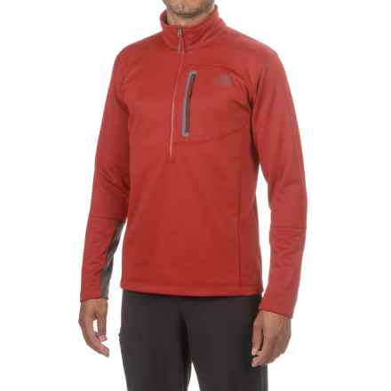 The North Face Canyonlands Fleece Jacket - Zip Neck (For Men and Big Men) in Cardinal Red - Closeouts