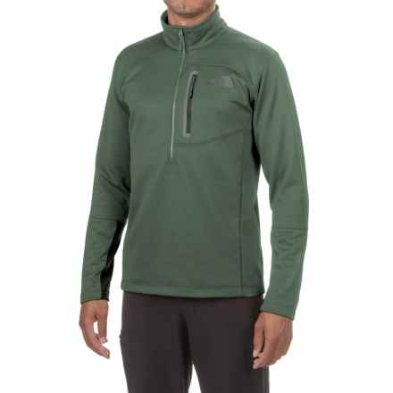 The North Face Canyonlands Fleece Jacket - Zip Neck (For Men and Big Men) in Duck Green Heather - Closeouts
