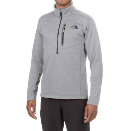 The North Face Canyonlands Fleece Jacket - Zip Neck (For Men and Big Men) in Tnf Light Grey Heather - Closeouts