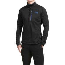 The North Face Canyonlands Jacket - Zip Neck (For Men) in Tnf Black/Monster Blue - Closeouts