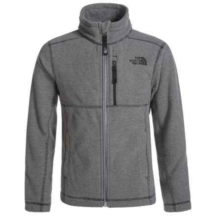 The North Face Cap Rock Fleece Jacket (For Little and Big Boys) in Graphite Grey Heather - Closeouts