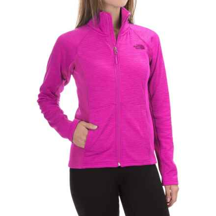 The North Face Castle Crag Fleece Jacket (For Women) in Lumins Pink Stripe/Lumins Pink - Closeouts