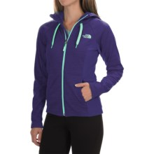 The North Face Castle Crag Hoodie Jacket - Fleece (For Women) in Garnet Purple Stripe/Garnet Purple - Closeouts
