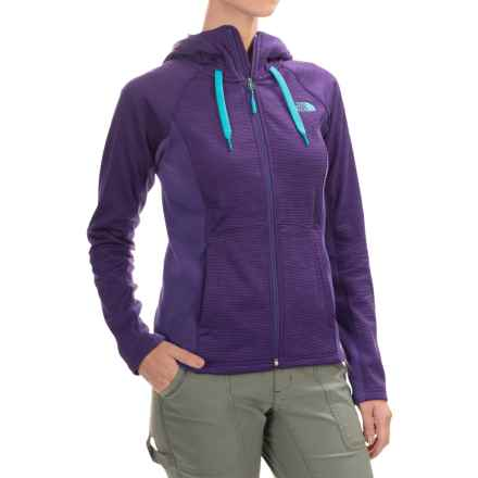 The North Face Castle Crag Hoodie Jacket - Fleece (For Women) in Hero Purple Stripe/Hero Purple - Closeouts