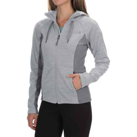 The North Face Castle Crag Hoodie Jacket - Fleece (For Women) in High Rise Grey Stripe/Mid Grey - Closeouts
