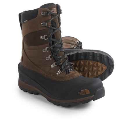 The North Face Chilkat 400 Winter Boots - Waterproof, Insulated (For Men) in Demitasse Brown/Tnf Black - Closeouts