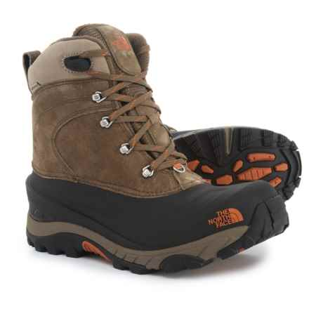 The North Face Chilkat II Winter Boots - Waterproof, Insulated (For Men) in Mudpack Brown/Bombay Brown - Closeouts