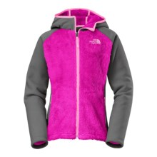The North Face Chimboraza Fleece Jacket (For Little and Big Girls) in Luminous Pink - Closeouts