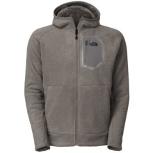 The North Face Chimborazo 2.0 Hooded Jacket - Fleece (For Men) in Heather Grey - Closeouts