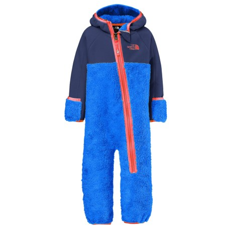 The North Face Chimborazo Fleece Baby Bodysuit - Hooded (For Infants) in Jake Blue