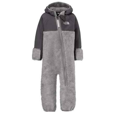 The North Face Chimborazo Fleece Baby Bodysuit - Hooded (For Infants) in Metallic Silver - Closeouts