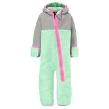 The North Face Chimborazo Fleece Baby Bodysuit - Hooded (For Infants) in Surf Green - Closeouts