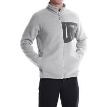 The North Face Chimborazo Fleece Jacket - Full Zip (For Men) in High Rise Grey/Asphalt Grey - Closeouts