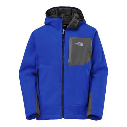 The North Face Chimborazo Hooded Jacket (For Little and Big Boys) in Honor Blue - Closeouts