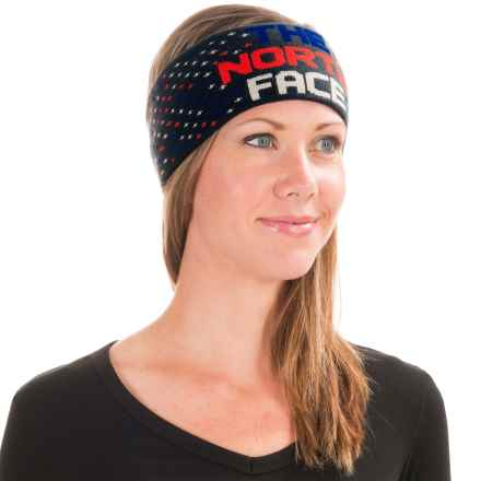 The North Face Chizzler Headband - Reversible in Outer Space Blue/Fiery Red - Closeouts