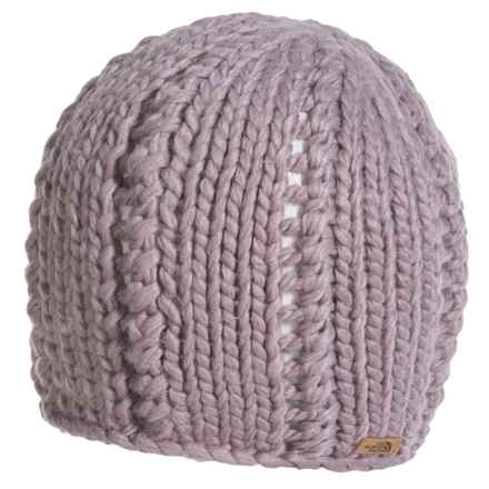 The North Face Chunky Knit Beanie (For Women) in Quail Grey - Closeouts