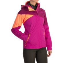 The North Face Cinnabar Triclimate® Jacket - Waterproof, Insulated, 3-in-1 (For Women) in Dramatic Plum/Luminous Pink/Impact Orange - Closeouts