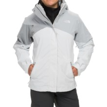 The North Face Cinnabar Triclimate® Jacket - Waterproof, Insulated, 3-in-1 (For Women) in High Rise Grey/Tnf White/Mid Grey - Closeouts