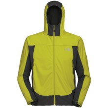 The North Face Cipher Hybrid Hooded Jacket - Windstopper®, Soft Shell (For Men) in Sublime Green - Closeouts
