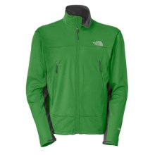The North Face Cipher Soft Shell Jacket - Windstopper® (For Men) in Arden Green/Asphalt Grey - Closeouts
