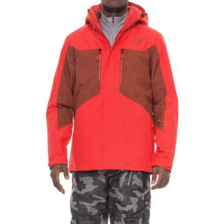 The North Face Clement Triclimate® 3-in-1 Jacket - Waterproof, Insulated (For Men) in Centennial Red/Brandy Brown - Closeouts