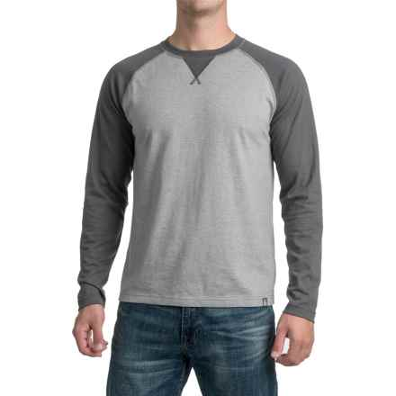 The North Face Copperwood Shirt - Crew, Long Sleeve (For Men) in Zinc Grey Heather/Asphalt Grey Heather - Closeouts