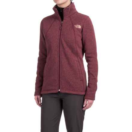 The North Face Crescent Knit Jacket - Full Zip (For Women) in Deep Garnet Red Heather - Closeouts